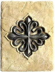 Tile with Templar Calatrava Cross