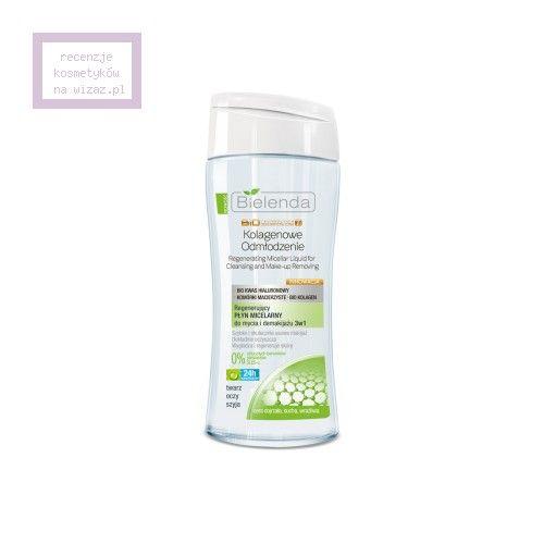 Bielenda, Biotechnologia Ciekłokrystaliczna 7D 40+ Kolagenowe Odmłodzenie, Regenerujący płyn micelarny do mycia i demakijazu 3 w 1