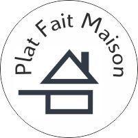 """100 Autocollants  """"Plat Fait Maison"""" diamètre 20mm pour appliquer sur vos menus ou emballages, présentoir s de produits..."""