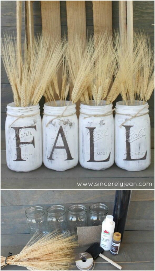 60 Fabulous Fall Diy Projects To Decorate And Beautify Your Home Rustic Mason Jars Jar And