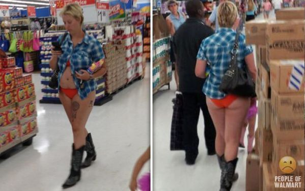 WHAT THE F*** Janet what have I told you??? Lol ... Outrageous Outfits On Walmart Shoppers