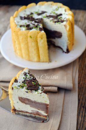 Torta fredda pistacchio e cioccolato con pavesini vickyart arte in cucina