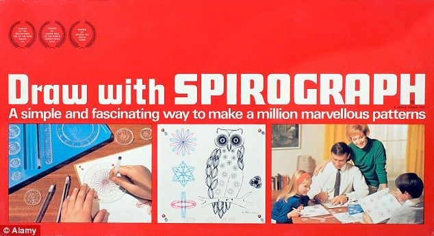 Unfamiliar pattern: Spirograph sets were popular in the 1960s and 1970s