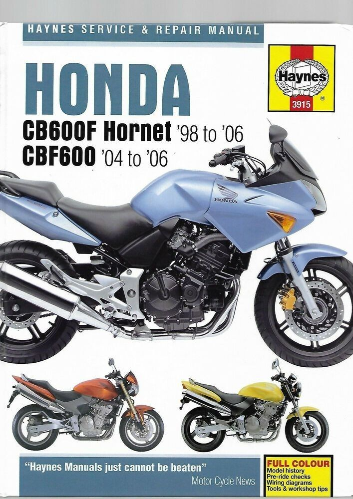 Honda Cb600f Hornet Repair Manual Pdf Bildung