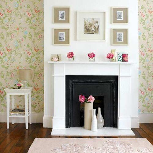 Decorate a mantle and fire place even if there is no real fire - use candles or vases