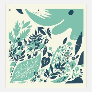 Forest floor print - The little friends of printmakingColor Inspiration, Silkscreen Prints, Printmaking, Forests Floors, Forestfloor, Colours Palettes, Creatures Comforters, Diy Projects, Colors Inspiration