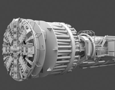 """Check out new work on my @Behance portfolio: """"Tunnel Boring Machine - TBM"""" http://be.net/gallery/6686833/Tunnel-Boring-Machine-TBM"""