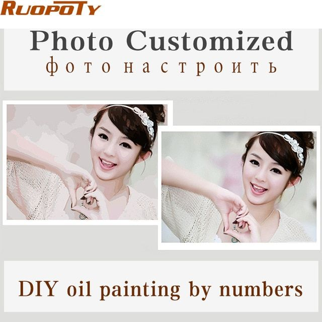 Your Own Photo Oil Painting Customized DIY Paintings By Numbers Picture Drawing