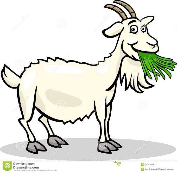 Illustratie Van Het Het Landbouwbedrijf De Dierlijke Beeldverhaal Van De Geit Royalty-vrije Stock Afbeelding - Afbeelding: 29143036