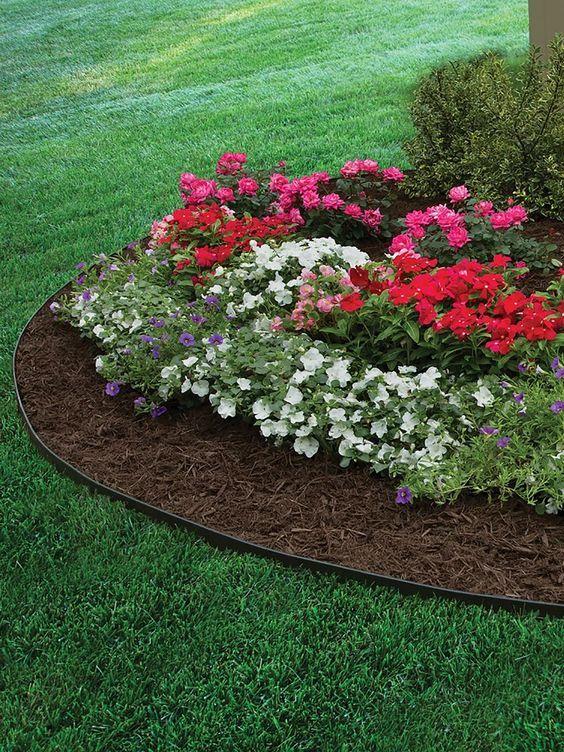 EasyFlex™ No Dig Garden Edging, 50u0027   Metal Landscaping Edging