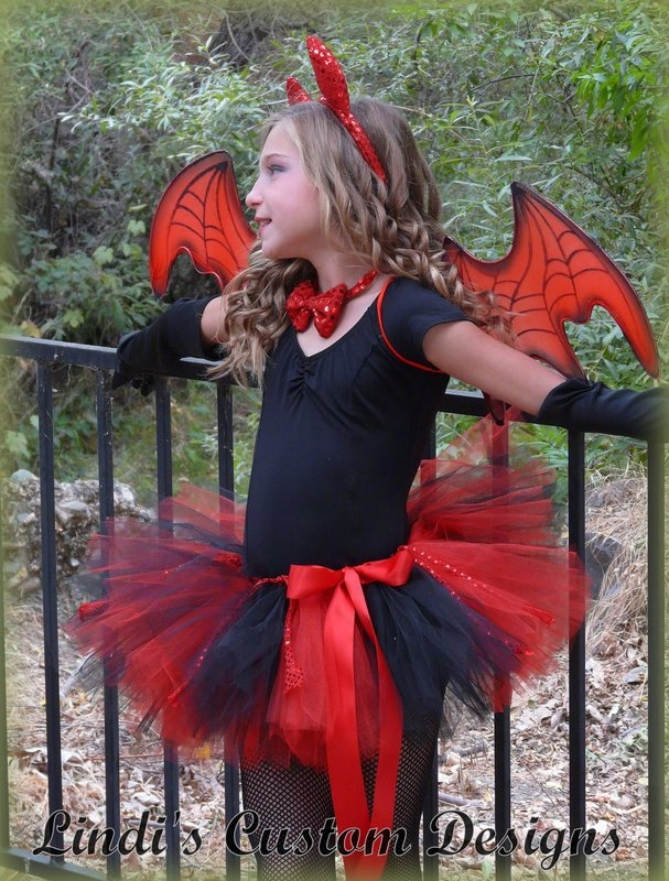 "Little Devil Girls Tutu Costume for Pageants, Parties, Halloween, Photography Prop 6 - 10 yr up to 26"" Waist. $47.00, via Etsy."