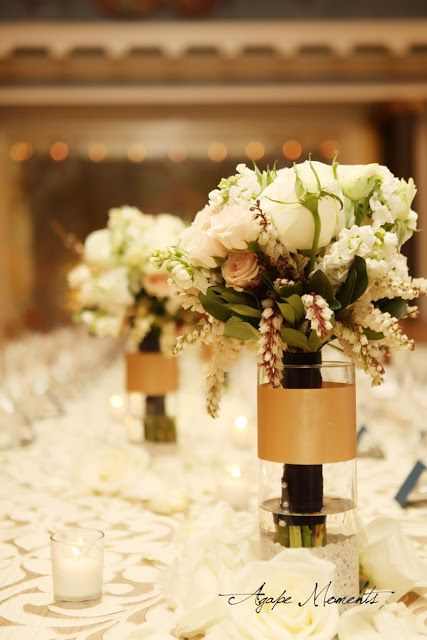 gold centerpieces - Google Search