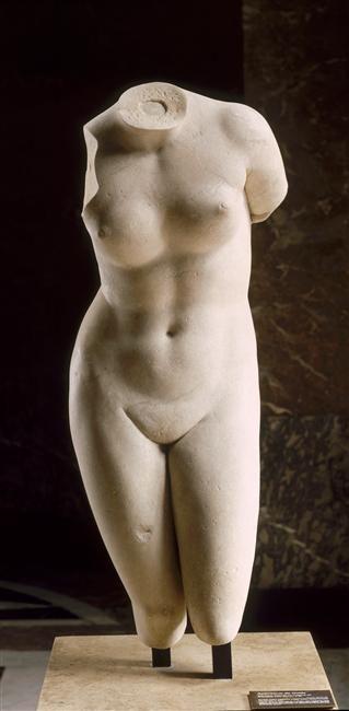 Torse de l'Aphrodite de Cnide (réplique d'un original de Praxitèle) Praxitèle (4e siècle av J.-C.)