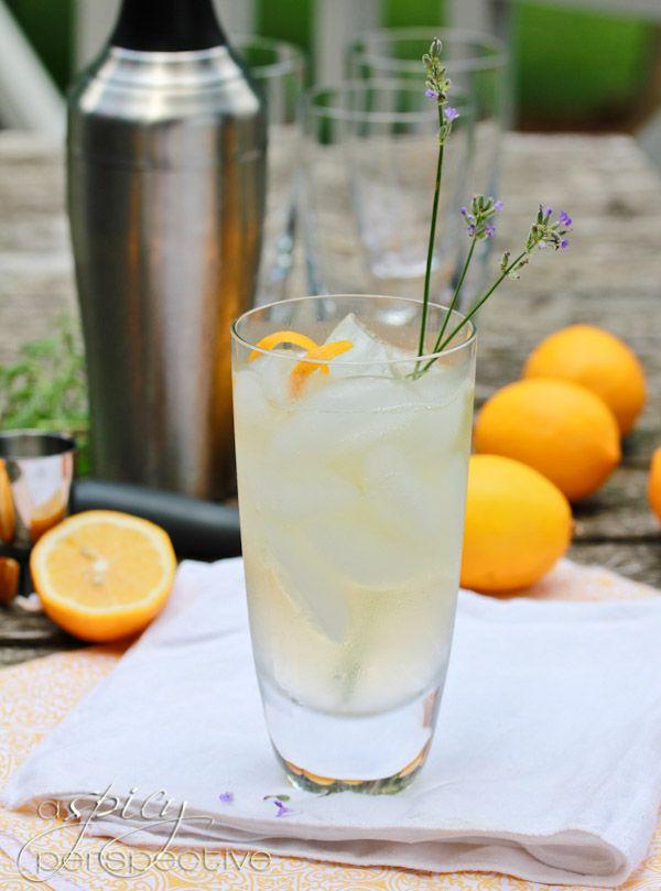 Easy Lavender Meyer Lemon Tom Collins Cocktail