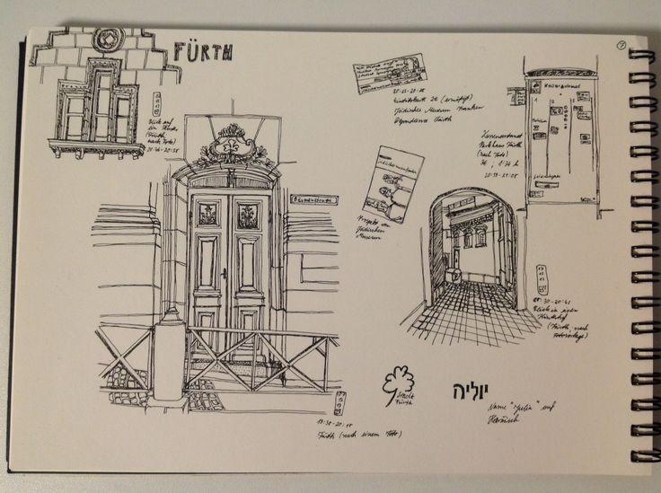 This is a sketch from Fürth, Baveria.
