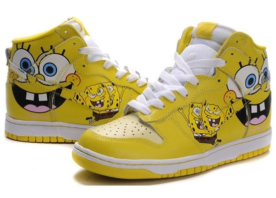 online retailer 05a49 519ed spongebob shoes nike dunks kanye west air jordan 7