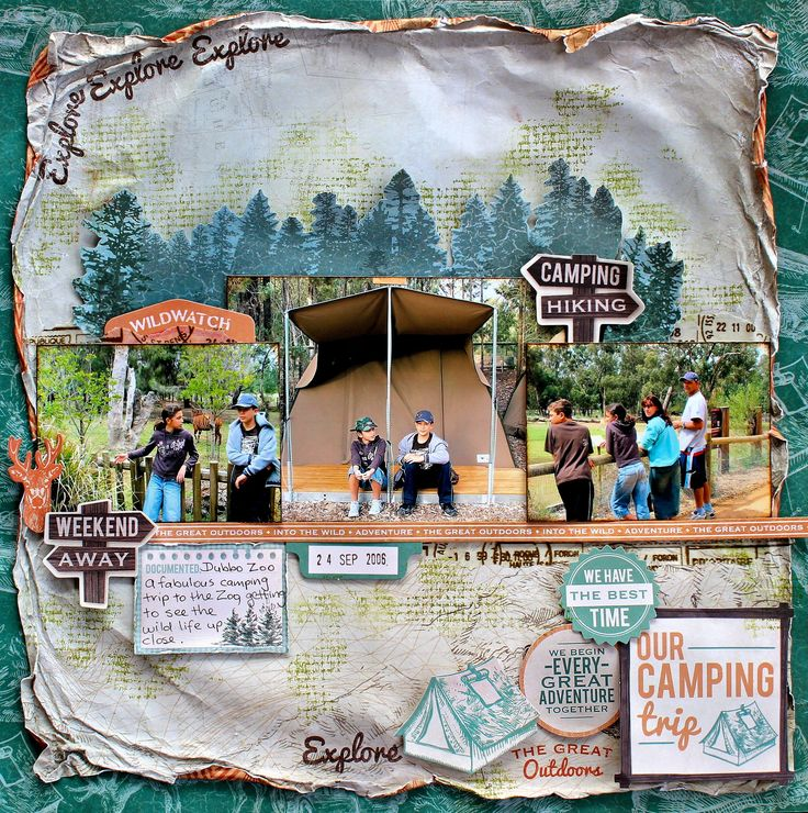 """Our Camping Trip - Kaisercraft using new """"Outdoor Trail"""" Collection"""