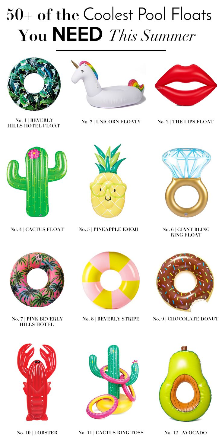 Pool Floats | Cool Pool Floats | Adult Pool Floats | Pool Party Essentials | Pineapple Pool Float | Donut Pool Float