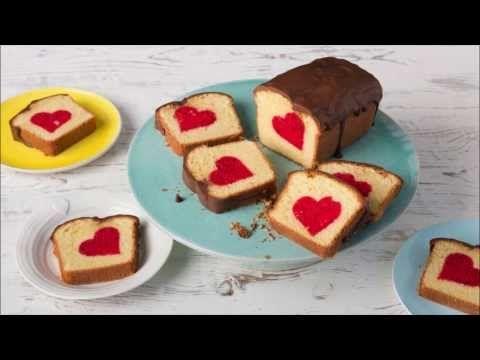 Rührkuchen mit Herz - Surprice inside cake - Patch cake - YouTube