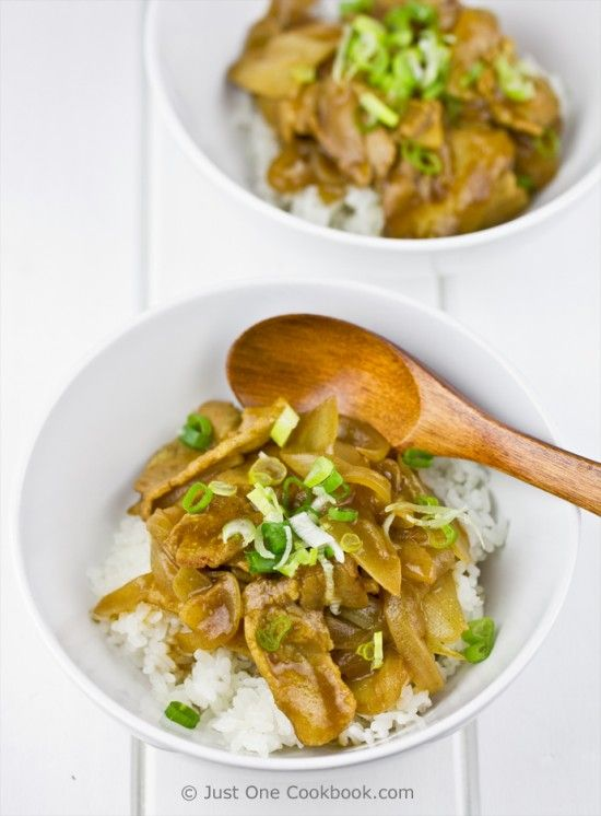 Pork Curry Donburi - seems easy enough, and its an excuse to eat pork belly. :)