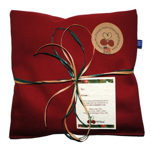 Red Therapeutic Cherry Pit Pillow - Soothe Neck and Stomach Pain - Durable Denim - Soft to the Touch - Cherry Stone Heat Pack - Heat Pad - Unique Birthday or Christmas Present - Made in America CherryPitPillow http://www.amazon.com/dp/B00K2G8R1Q/ref=cm_sw_r_pi_dp_LD4Uvb1YP43PV