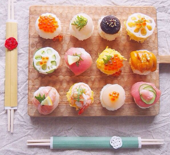 Japanese New year Temari sushi