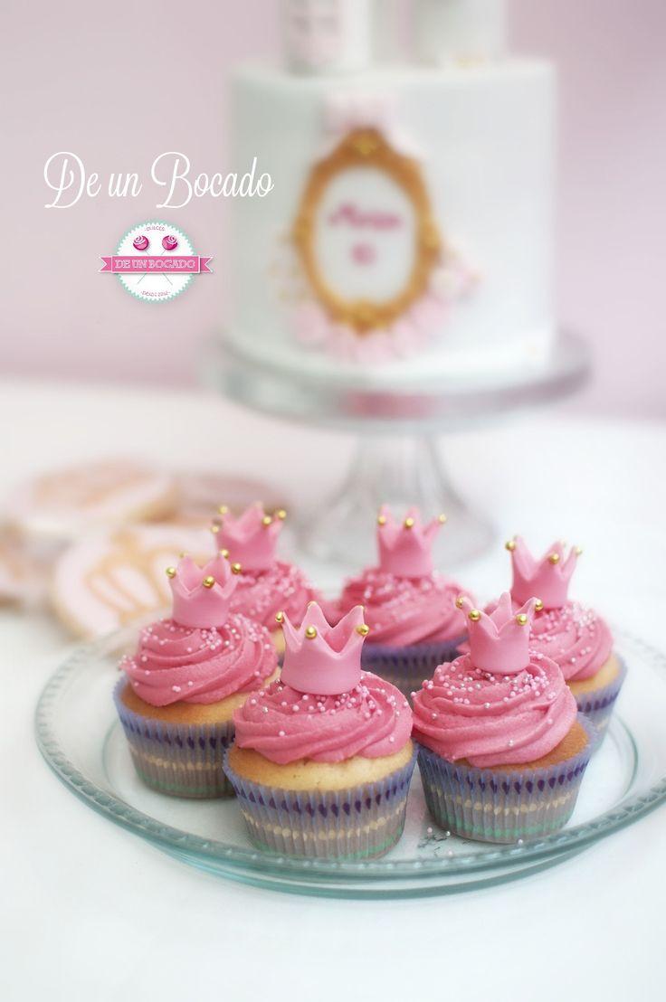 Princess crown cupcakes  Cupcakes coronas de princesas