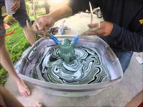 How to Dip Skulls with Spray Paint - YouTube