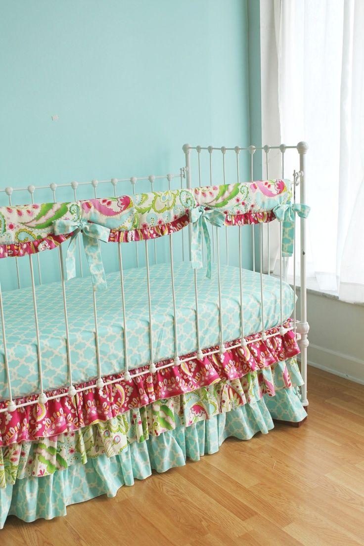 Baby cribs jacksonville fl - Bumperless Kumari Garden Baby Bedding Crib Set