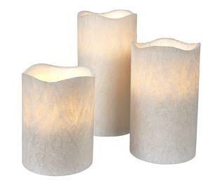 Set of 3 LED Pillar Candles