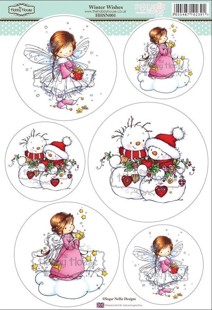 Sugar Nellie Designs die cut topper collection by the Hobby House - Winter…