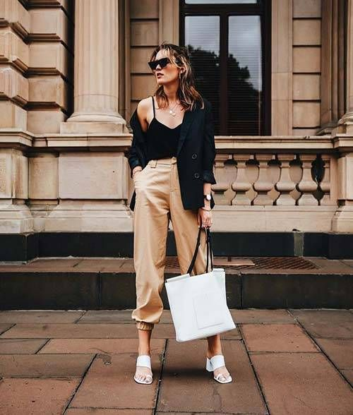 98eb1fc8181f 15 Outfits That Prove You Need to Buy a Pair of Beige Pants in 2019 ...