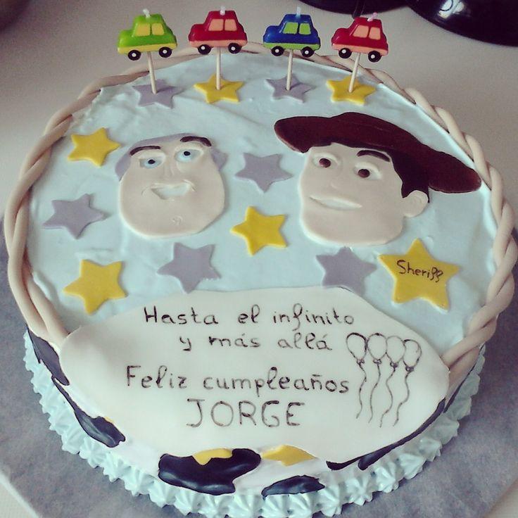 Tarta de cumpleaños de Toys Story.