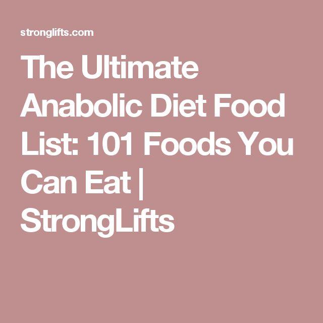Anabolic Diet Food List