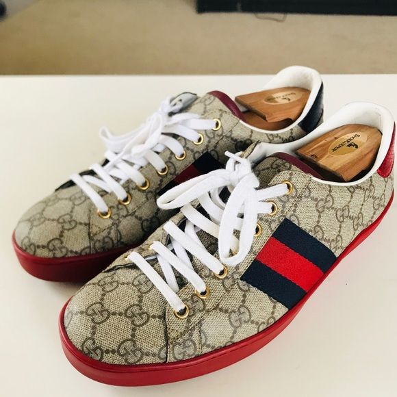 Gucci Ace Supreme Red Bottoms | Red