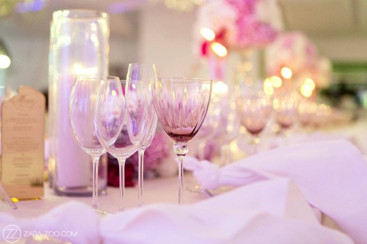 Shari & Tendai Wedding | 15 January 2017 | The Aleit Group  Polo Estate Wedding. Glassware. Table setting. Pink decor. Val de Vie Estate. Wedding reception. South Africa.