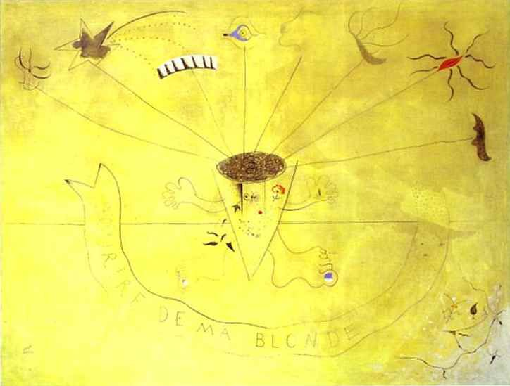 Bouquet of Flowers. Smile of My Blond, 1924 - Joan Miro - 1200artists.com