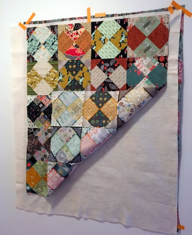 Wall Basting a Quilt