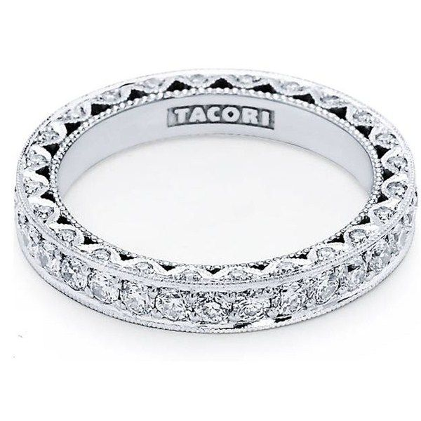 Platinum Tacori Royal T Pave Diamond Eternity Band