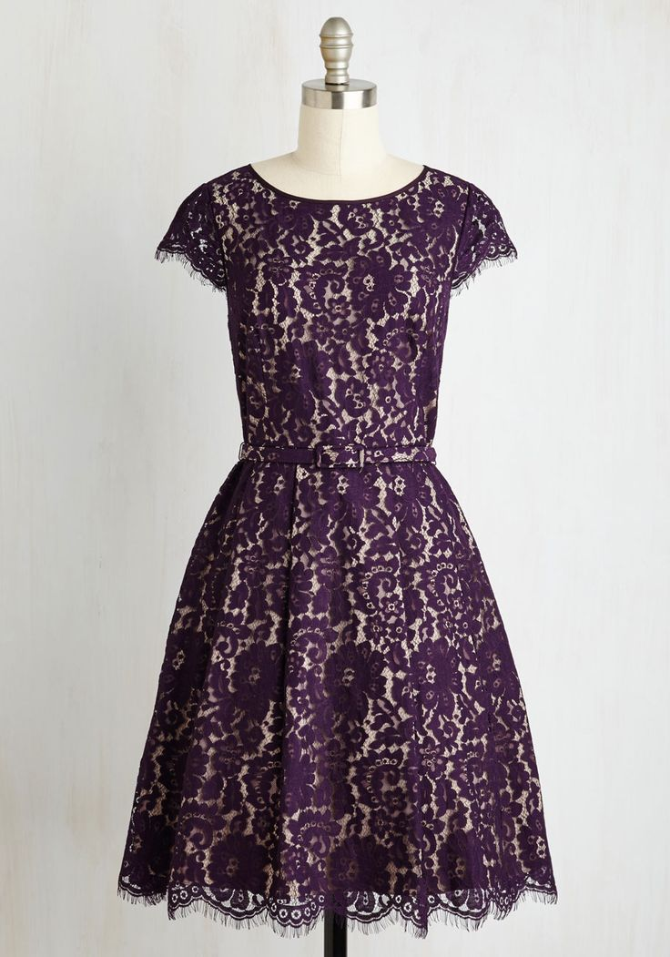 Left in a Spin Dress in Purple | Mod Retro Vintage Dresses | ModCloth.com