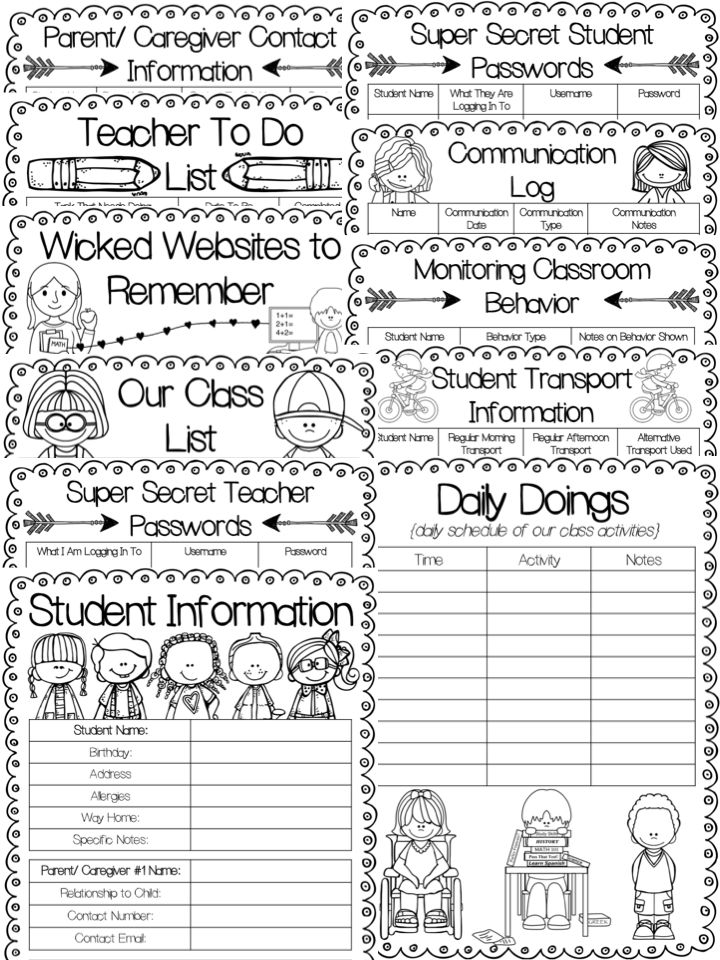 Teacher Binder for back to school. This is an editable teacher binder that is perfect for back to school 2016. Cute, cheerful, and timesaving.