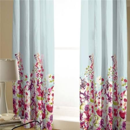 Catherine Lansfield Meadow Standard Lined Curtains in size