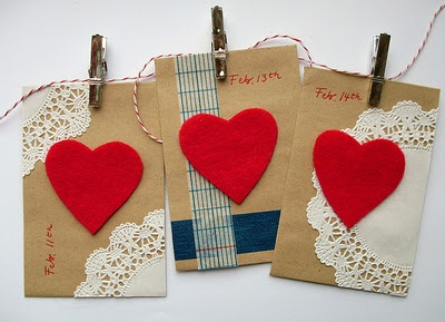 valentines love note garland
