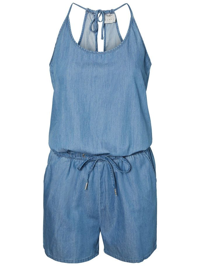Denim playsuit in light blue