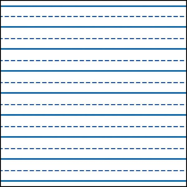 Kindergarten paper with lines template – Writing Lines Template