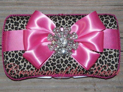 Baby Wipe Case | Leopard Baby Wipe Case | Satin Bow | Travel Wipe Case | Girl's Wipe Case | Baby Shower Gift | Decorative Wipe Case on Etsy, $28.00