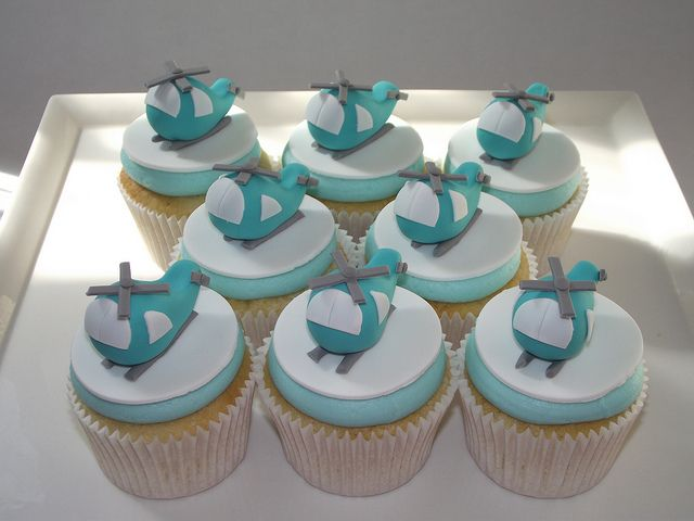 Helicopter Cupcakes by Beach House Bakery, via Flickr