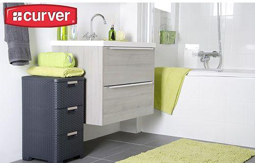 Bathroom drawer by Curver #stylish #drawer #curver #bathroom #rattan