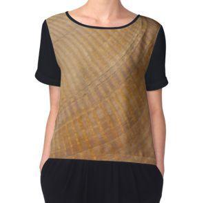 Women's Chiffon Top.  #scallopseashell #seashell #seashellmacro #macro #sandrafoster #sandrafosterredbubble