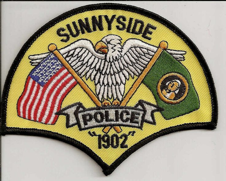 Sunnyside PD WA Police patches, Law enforcement, Fire badge